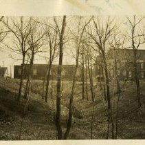 Image of 1979.304 - View of valley behind American School of Osteopathy Gymnasium 1932 Apr 10
