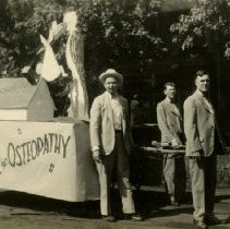 Image of 1979.343 - American School of Osteopathy convention parade Birthplace of Osteopathy float