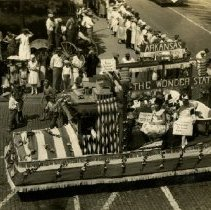 Image of 1979.343 - American School of Osteopathy convention parade Arkansas float 1929