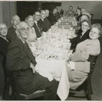 Image of 1980.429 - Kirksville College of Osteopathy and Surgery Founder's Day banquet group photo 1949