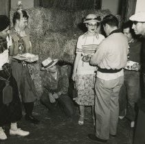 Image of 1983.829 - Students in costume at the Kirksville College of Osteopathy & Surgery Sadie Hawkins dance 1954