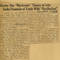 Image of 1976.140 - Doctor has Electronic Theory of Life