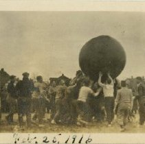 Image of 1983.917 - Bouncing large ball on Still Field 1916 Feb 25