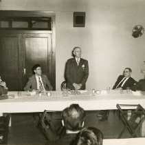 Image of 1984.951 - Ralph Rice speaking at Atlas Club Banquet