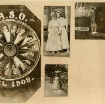 Image of 1985.1050 - Photo collage of American School of Osteopathy wheel, nurses, and Acme Photo Studio