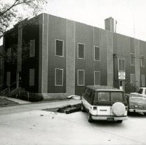 Image of 2004.10 - Two photos of exterior of Grim-Smith Hospital & Clinic near business office entrance