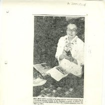 Image of Reproduction of newspaper picture featuring Mrs. Boyd King