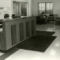 Image of 2004.10 - Grim Smith Hospital and Clinic waiting room and info desk