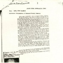 Image of Biographical Documents on Edward & Ezra Grim and Edward S. Smith