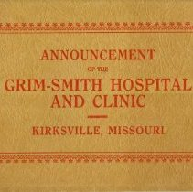 Image of Announcement of the Grim-Smith Hospital and Clinic