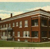 Image of Grim Hospital color postcard