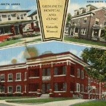 Image of Grim-Smith Hospital and Clinic buildings color postcard 1944 Jun 14