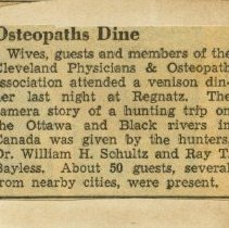 Image of Osteopaths Dine