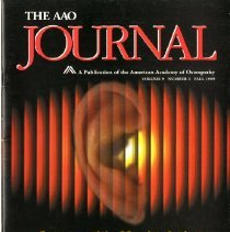 Image of 2012.82 - The AAO Journal Vol. 9, No. 3 Fall 1999