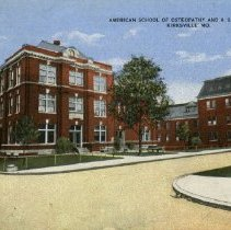 Image of ASO school and Hospital buildings postcard