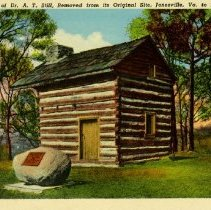 Image of 2007.63 - Still Cabin and historical marker postcard
