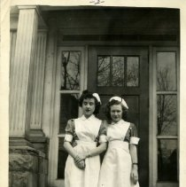 Image of 1996.12 - Ruth Atwell and Edna Kohlmeyer in nursing uniforms