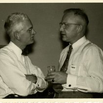 Image of 1996.20 - Ralph S. Licklider & Robert B. Thomas talking