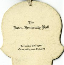 Image of Page one of Inter-Fraternity Ball dance card 1937