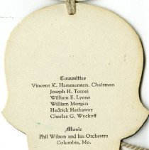 Image of Committee members of Inter-Fraternity Ball listed in dance card 1937