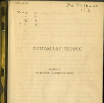 Image of Title page of Osteopathic Technic