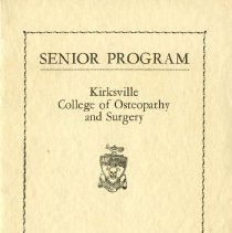 Image of Kirksville College of Osteopathy & Surgery senior program 1943 Feb