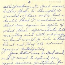 Image of Page of letter from Mary to Pickhardt 1948