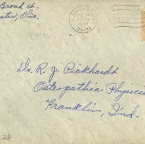 Image of Envelope from letter to Pickhardt 1948