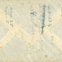 Image of Back of envelope from letter to Pickhardt 1948