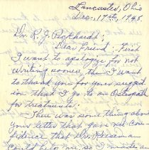 Image of Letter to Robert J. Pickhardt 1948 Dec 17
