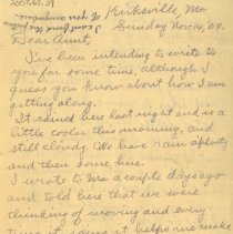 Image of First page of letter from Pickhardt to aunt 1909 Nov 14