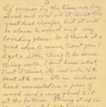 Image of Page two of letter from pickhardt to aunt 1909 Nov 14