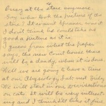 Image of Page four of letter from Pickhardt to aunt 1909 Nov 14