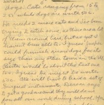 Image of Page five of letter from Pickhardt to aunt 1909 Nov 14