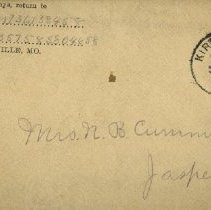 Image of Envelope for letter from N.B. Cummiskey to Pickhardt