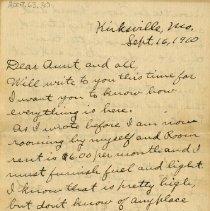 Image of Letter from Pickhardt Sr. to aunt 1910 Sep 16
