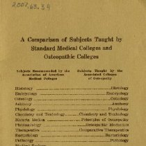 Image of Inside back cover of Story of First Osteopath courses 1924