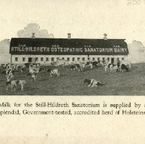 Image of Back of Still-Hildreth Sanitorium pamphlet