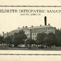 Image of Still-Hildreth Osteopathic Sanatorium pamphlet