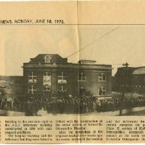 Image of Kirksville Daily Express article on W. Jefferson Street ca. 1912 1973 Jun 1