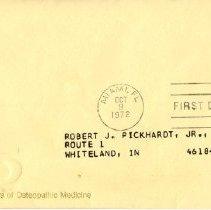 Image of Envelope from letter to Pickhardt Jr. 1972 Oct 9