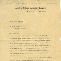 Image of ANAC letter to Pickhardt Sr. 1917 May 7