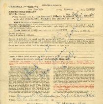 Image of Invoice for McManis table to Pickhardt Sr. 1921 Feb 2