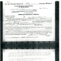 Image of 2008.84 - Photocopies of Probate Court Documents for Estate of Blanche Still Laughlin