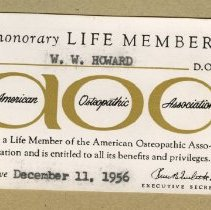 Image of 1975.65 - American Osteopathic Association Honorary Life Membership