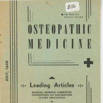 Image of 1975.91 - Osteopathic Medicine