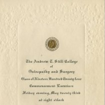 Image of 1976.123 - Andrew Taylor Still College of Osteopathy and Surgery Commencement Program