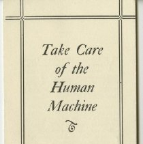 Image of 1976.123 - Take Care of the Human Machine