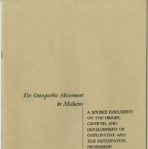 Image of 1976.172 - The Osteopathic Movement in Medicine