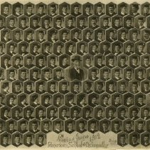 Image of 1978.199 - American School of Osteopathy graduates in caps and gowns composite photo